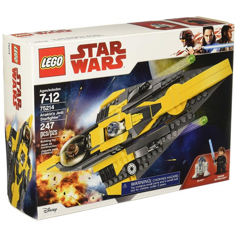 LEGO Star Wars: Anakin's Jedi Starfighter - 247 Piece Building Set [LEGO, #75214, Ages 7-12]