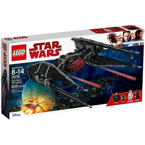 LEGO Star Wars: Kylo Ren's TIE Fighter - 630 Piece Building Kit [LEGO, #75179, Ages 8-14]