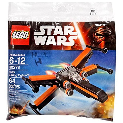 LEGO Star Wars: Poe's X-Wing Fighter - 64 Piece Building Set [LEGO, #30278, Ages 6-12]