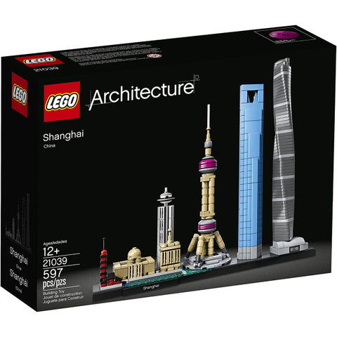 LEGO Architecture: Shanghai - 597 Piece Building Kit [LEGO, #21039, Ages 12+]