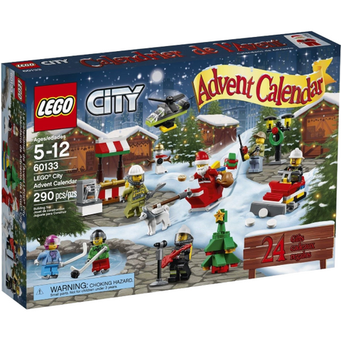 LEGO City Town 290 Piece Advent Calendar Building Kit [LEGO, #60133, Ages 5-12]