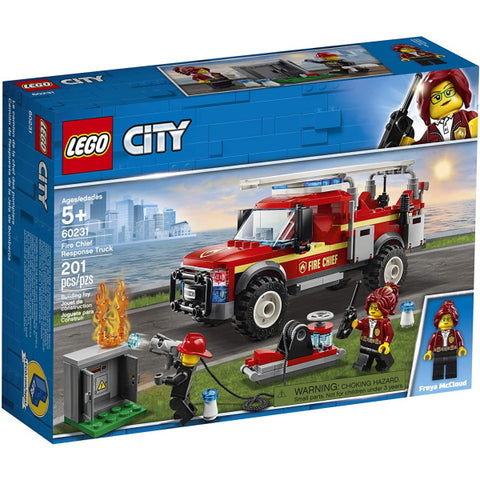 LEGO City: Fire Chief Response Truck - 201 Piece Building Kit [LEGO, #60231, Ages 5+]