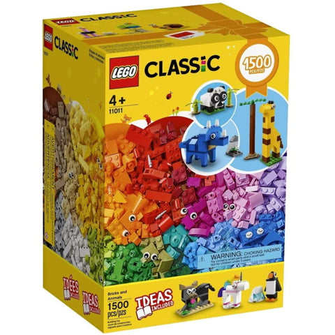 LEGO Classic: Bricks and Animals - 1500 Piece Building Kit [LEGO, #11011, Ages 4+]