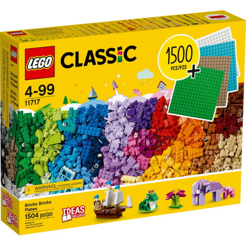 LEGO Classic: Bricks Bricks Plates - 1504 Piece Building Kit [LEGO, #11717, Ages 4-99]