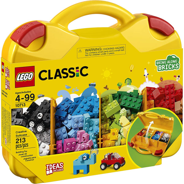 LEGO Classic: Creative Suitcase - 213 Piece Building Kit [LEGO, #10713, Ages 4-99]