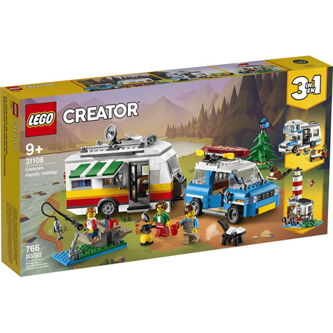 LEGO Creator: Caravan Family Holiday - 766 Piece 3-in-1 Building Set [LEGO, #31108 , Ages 9+]