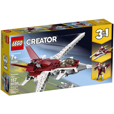 LEGO Creator: Futuristic Flyer - 157 Piece 3-in-1 Building Set [LEGO, #31086 , Ages 7+]