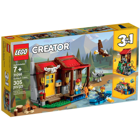 LEGO Creator: Outback Cabin  - 305 Piece Building Kit [LEGO, #31098, Ages 7+]