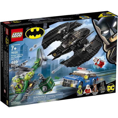 LEGO DC Batman: Batman Batwing and The Riddler Heist - 489 Piece Building Kit [LEGO, #76120, Ages 7+]