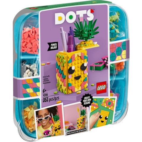 LEGO DOTS: Pineapple Pencil Holder - 351 Piece Building Kit [LEGO, #41906, Ages 6+]