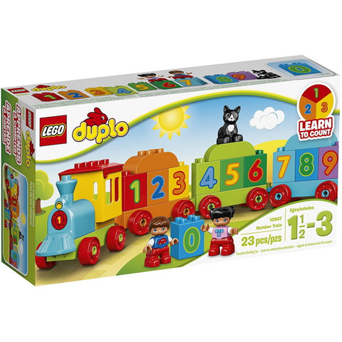 LEGO DUPLO: Number Train - 23 Piece Building Brick Set [LEGO, #10847, Ages 1.5-3]