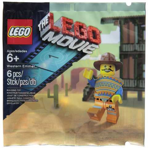 The Lego Movie: 6 Piece LEGO Western Emmet [LEGO, #5002204, Ages 6+]