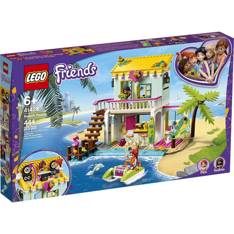 LEGO Friends: Beach House - 444 Piece Building Kit [LEGO, #41428, Ages 6+]