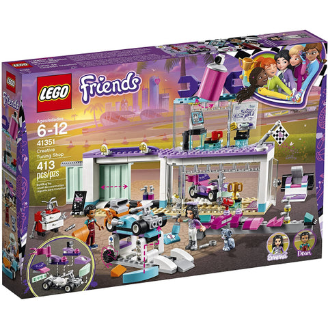 LEGO Friends: Creative Tuning Shop - 413 Piece Building Kit [LEGO, #41351, Ages 6-12]