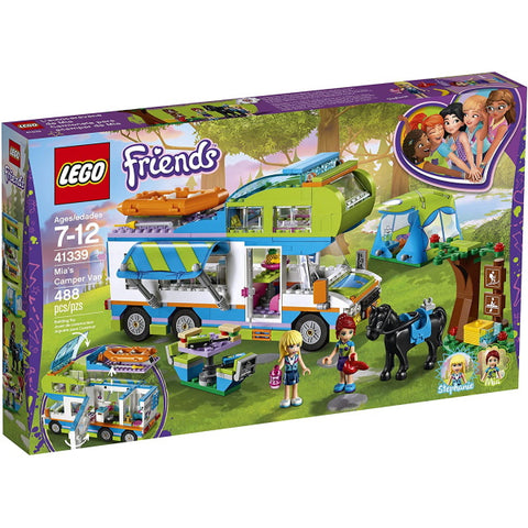 LEGO Friends: Mia's Camper Van - 488 Piece Building Kit [LEGO, #41339, Ages 7-12]