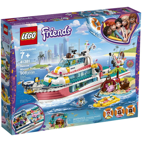 LEGO Friends: Rescue Mission Boat  - 908 Piece Building Kit [LEGO, #41381, Ages 7+]