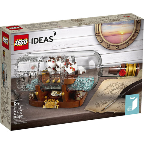 LEGO Ideas: Ship in a Bottle - 962 Piece Building Kit [LEGO, #21313, Ages 12+]