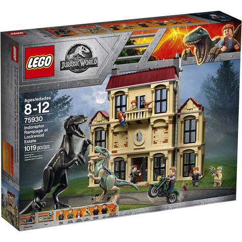 LEGO Jurassic World: Indoraptor Rampage at Lockwood Estate - 1019 Piece Building Kit [LEGO, #75930, Ages 8-12]