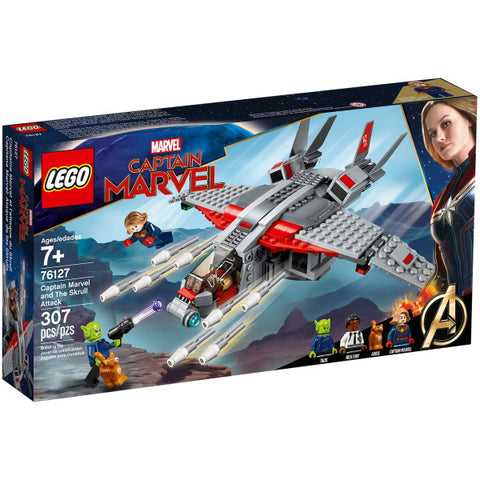 LEGO Marvel: Captain Marvel and The Skrull Attack - 307 Piece Building Kit [LEGO, #76127, Ages 7+]