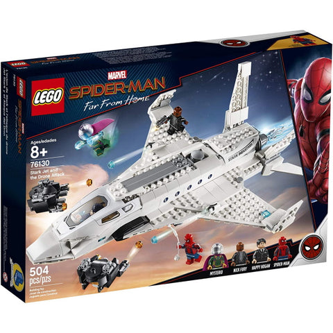 LEGO Marvel Spider-Man - Far From Home: Stark Jet and the Drone Attack - 504 Piece Building Kit [LEGO, #76130, Ages 8+]