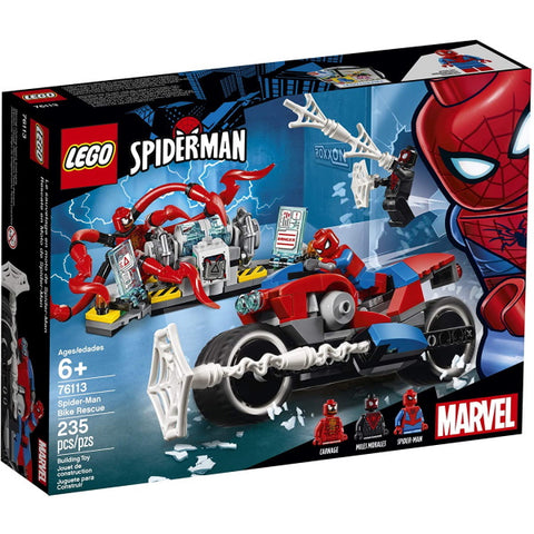 LEGO Marvel Spider-Man: Spider-Man Bike Rescue - 235 Piece Building Kit [LEGO, #76113, Ages 6+]