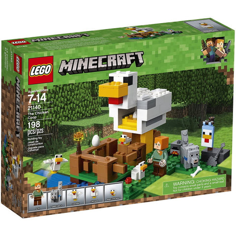 LEGO Minecraft: The Chicken Coop - 198 Piece Building Kit [LEGO, #21140, Ages 7-14]