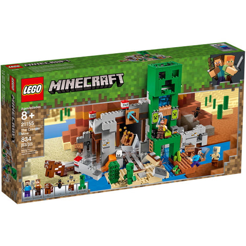 LEGO Minecraft: The Creeper Mine - 834 Piece Building Kit [LEGO, #21155, Ages 8+]