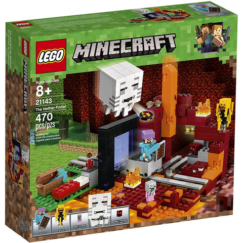 LEGO Minecraft: The Nether Portal - 470 Piece Building Kit [LEGO, #21143, Ages 8+]