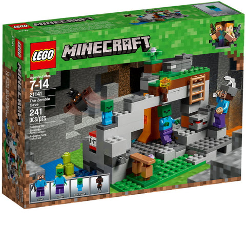 LEGO Minecraft: The Zombie Cave - 241 Piece Building Kit [LEGO, #21141, Ages 7-14]