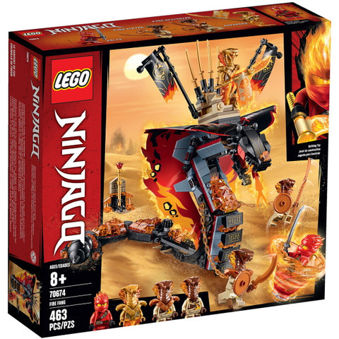 LEGO Ninjago: Fire Fang - 463 Piece Building Kit [LEGO, #70674, Ages 8+]