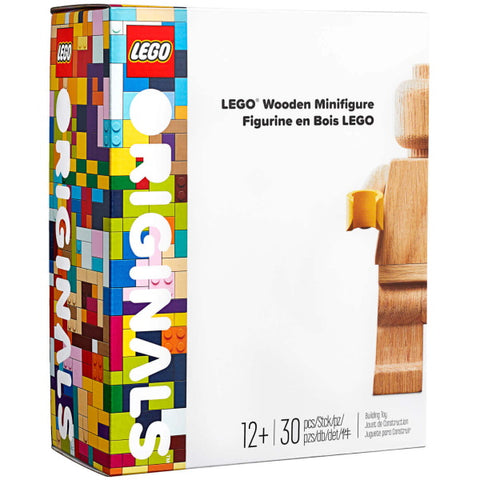LEGO Originals: LEGO Wooden Minifigure - 30 Piece Building Set [LEGO, #853967, Ages 12+]