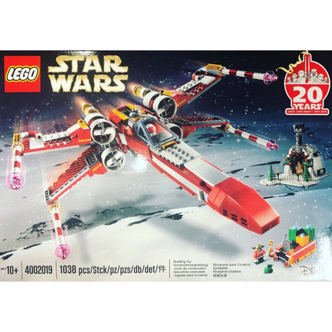 LEGO Star Wars: Christmas X-Wing - 20th Anniversary Edition - 1038 Piece Building Kit [LEGO, #4002019, Ages 10+]