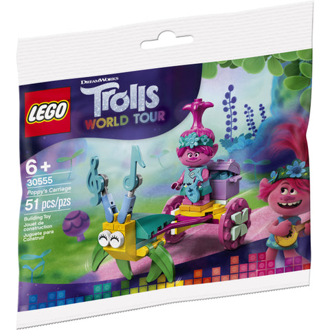 LEGO Trolls World Tour: Poppy's Carriage  - 51 Piece Building Kit [LEGO, #30555, Ages 6+]