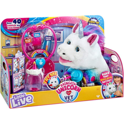 Little Live Rainglow Unicorn Vet Set [Toys, Ages 4+]