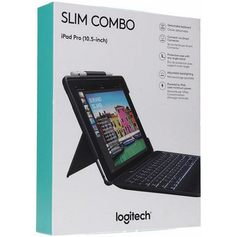 Logitech Slim Combo Keyboard Case for iPad Pro 10.5-inch - Black [Electronics]