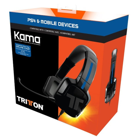 Mad Catz TRITTON Kama Stereo Headset for PlayStation 4 and Mobile Devices - Black [PlayStation 4 Accessory]