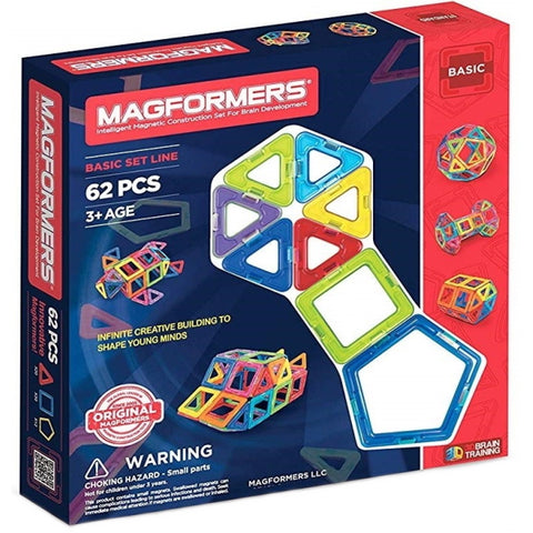 Magformers: Basic Set Line - 62 Pieces [Toys, Ages 3+]