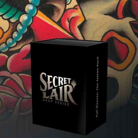 Magic: The Gathering TCG - Secret Lair Drop Series - Full Sleeves: The Tattoo Pack [Card Game, 2 Players]