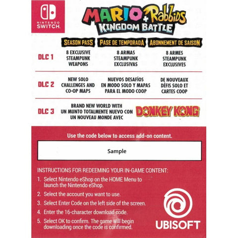 Mario + Rabbids Kingdom Battle - Season Pass DLC Pack [Nintendo Switch Accessory]