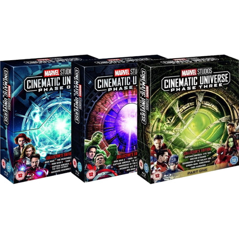 Marvel Studios Cinematic Universe - Phase 1 to Phase 3: Part One - Collector's Edition [Blu-Ray Box Set]