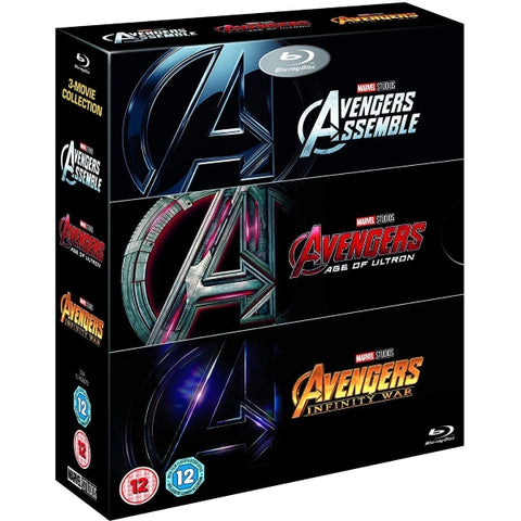 Marvel's Avengers 1-3 Collection - Avengers Assemble + Age of Ultron + Infinity War [Blu-Ray Box Set]