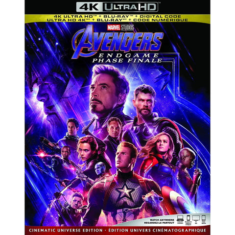 Marvel's Avengers: Endgame [Blu-Ray + 4K UHD + Digital]