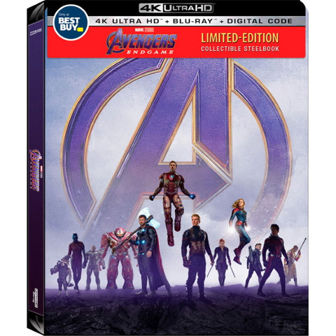 Marvel's Avengers: Endgame - Limited Edition Collectible SteelBook [Blu-Ray + 4K UHD + Digital]