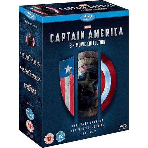 Marvel's Captain America: The First Avenger + The Winter Soldier + Civil War [Blu-Ray 3-Movie Collection]