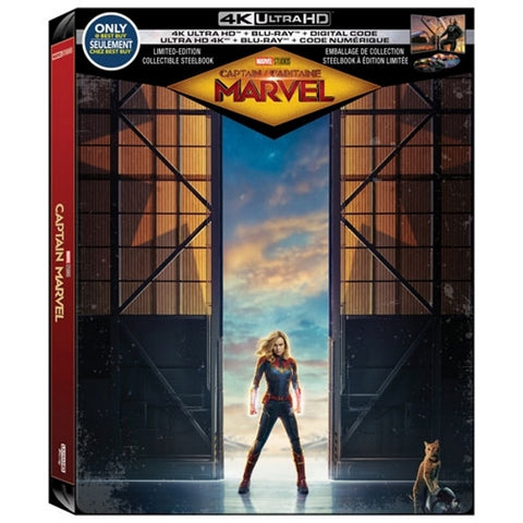 Marvel's Captain Marvel - 4K Limited Edition SteelBook [Blu-ray + 4K UHD + Digital]
