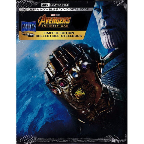 Marvel's Avengers: Infinity War - 4K Limited Edition SteelBook [Blu-ray + 4K UHD + Digital]