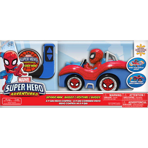 Marvel's Spider-Man Super Hero Adventures Remote Control Buggy [Toys, Ages 3+]