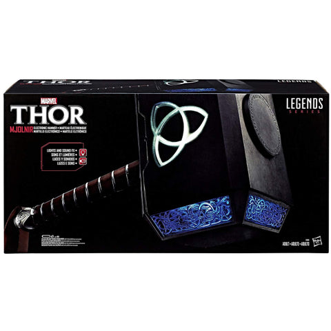 Marvel's Thor: Legends Series - Electronic Mjolnir Hammer [Toys, Ages 18+]