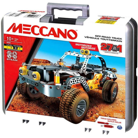 Meccano Motorized Off-Road Truck - 27-in-1 Building Kit [Toys, #20201, Ages 10+]