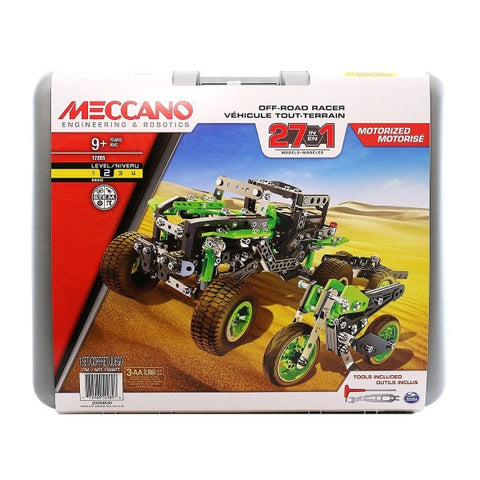 Meccano Engineering & Robotics Off-Road Racer 27 Models in 1 - Motorized Building Toy (17205) [Toys, Ages 9+]